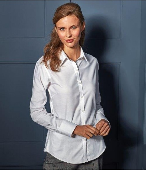 PR334 Premier Ladies Signature Long Sleeve Oxford Shirt