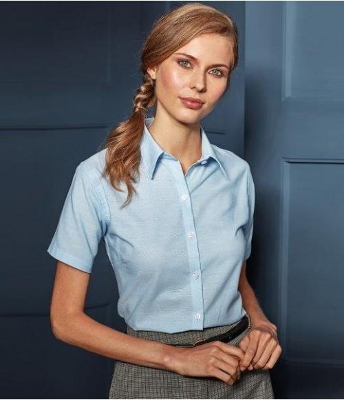 PR336 Premier Ladies Signature Short Sleeve Oxford Shirt