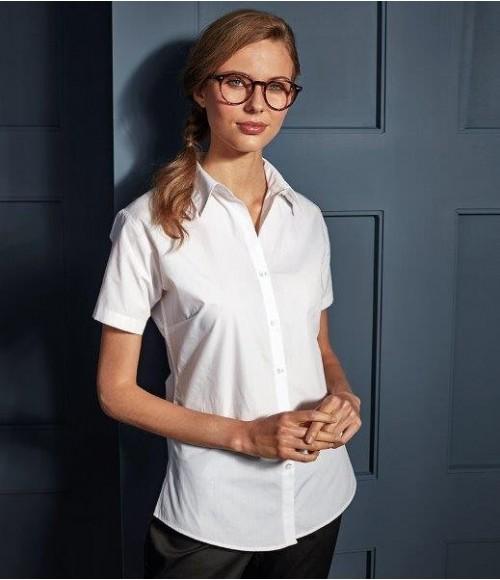 PR309 Premier Ladies Supreme Short Sleeve Poplin Shirt