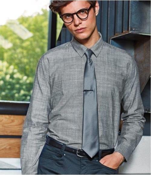 PR245 Premier Long Sleeve Chambray Shirt