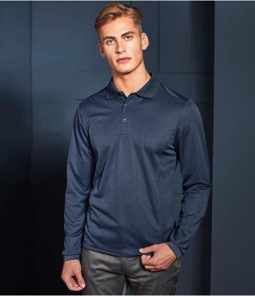 PR617 Premier Long Sleeve Coolchecker Pique Polo Shirt