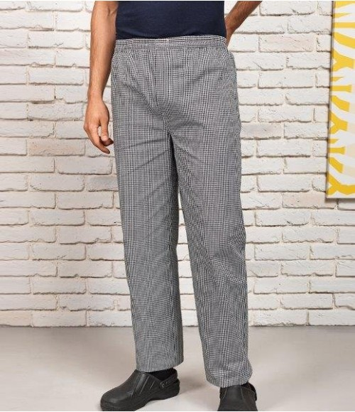 PR552 Premier Pull On Chef's Check Trousers