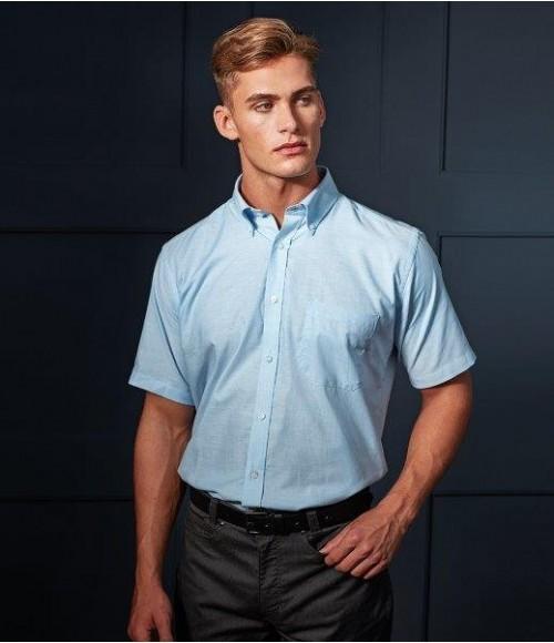 PR236 Premier Signature Short Sleeve Oxford Shirt