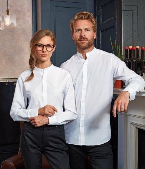 PR258 Premier Unisex Long Sleeve Grandad Shirt