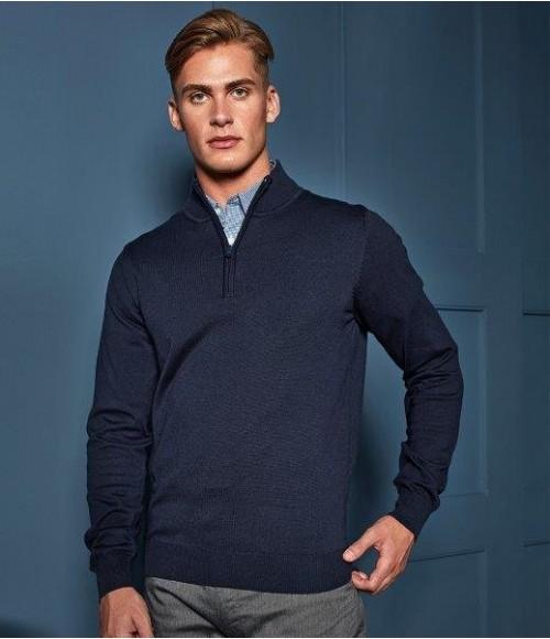 PR695 Premier Zip Neck Sweater