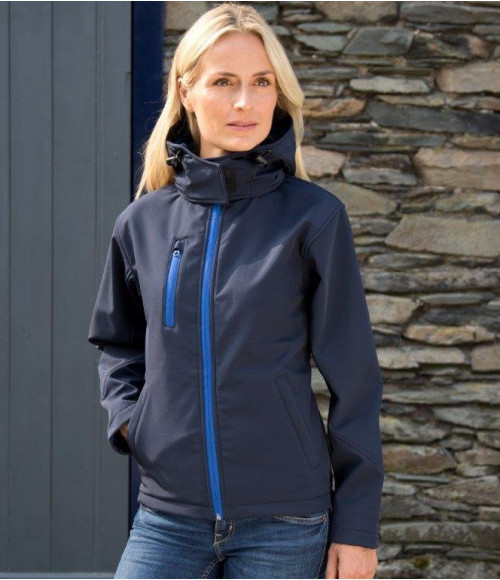 RS230F Result Core Ladies Hooded Soft Shell Jacket