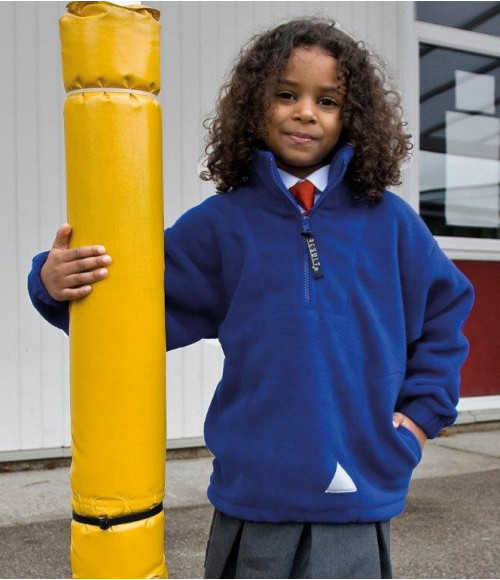 RS33B Result Kids/Youths Zip Neck Polartherm Fleece