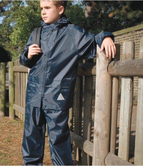 RS95B Result Kids Waterproof Jacket/Trouser Suit in Carry Bag