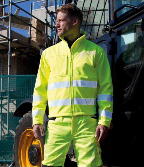 RS117 Result Safe-Guard Hi-Vis Soft Shell Jacket