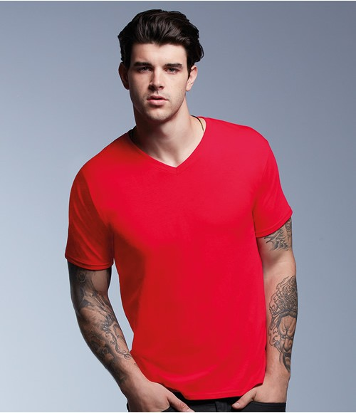 Anvil Featherweight V Neck T-Shirt