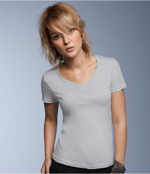 Anvil Ladies Sheer V Neck T-Shirt