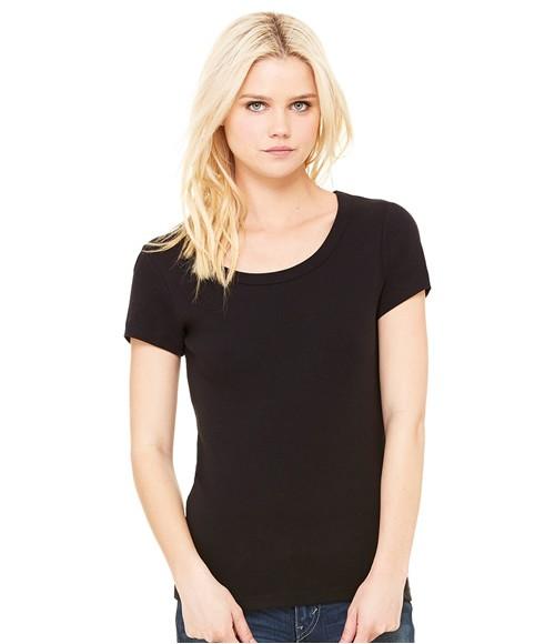 Bella Baby Rib Scoop Neck T-Shirt