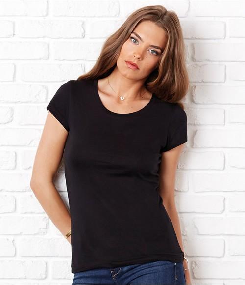 Bella Sheer Rib Longer Length T-Shirt