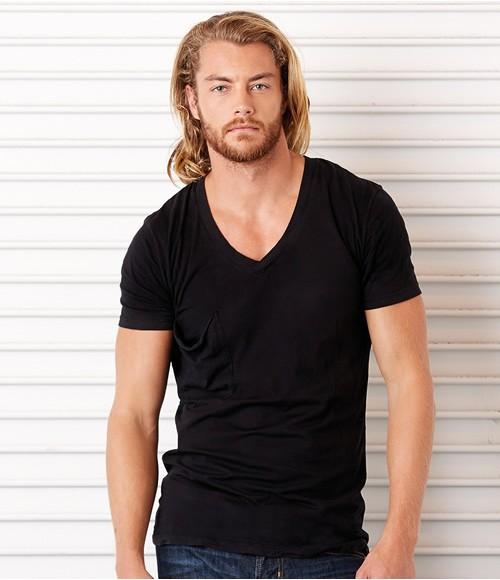 Canvas Unisex Deep V Neck T-Shirt