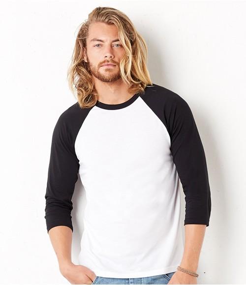 Canvas Unisex 3/4 Sleeve Baseball T-Shirt