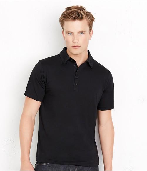 Canvas Jersey 5 Button Poly/Cotton Polo Shirt