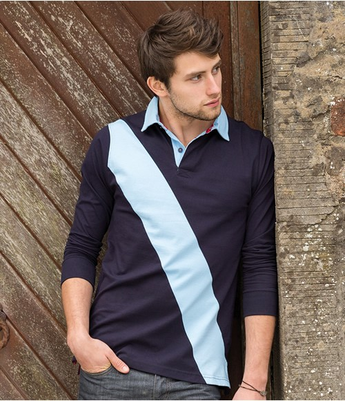 Front Row Diagonal Stripe House Rugby Shirt
