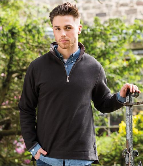 FR40Front Row Collection Super Soft Zip Neck Sweatshirt