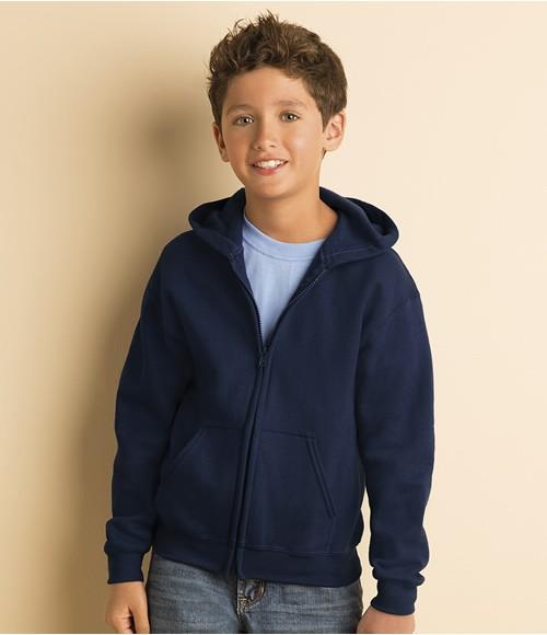 Gildan Kids Heavy Blend   Zip Hooded Sweatshirt