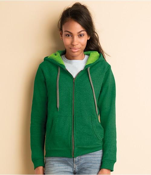 Gildan Ladies Heavy Blend  Vintage Zip Hooded Sweatshirt