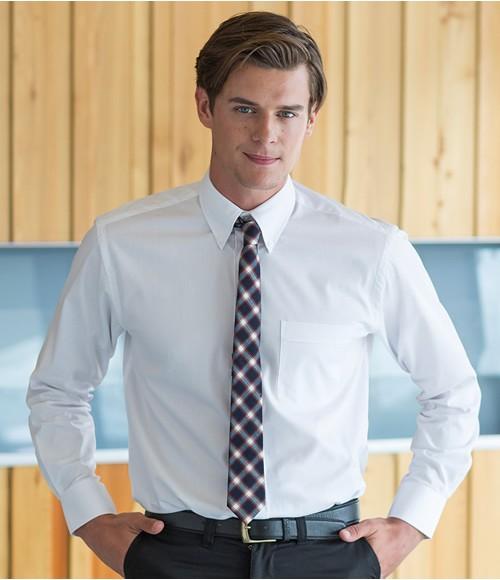 Henbury Long Sleeve Oxford Shirt