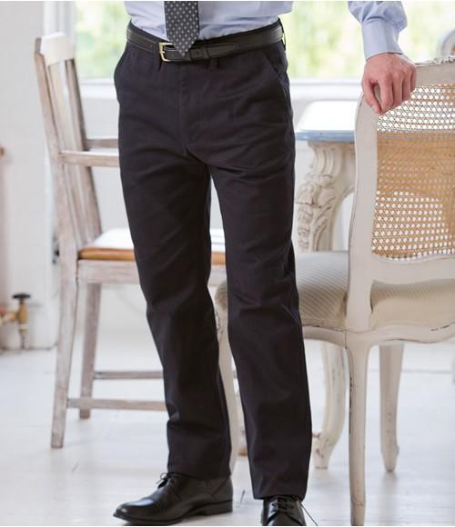 Henbury 65/35 Flat Fronted Chino Trousers