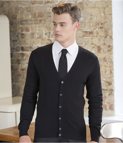 Henbury Lightweight Cotton Acrylic V Neck Cardigan