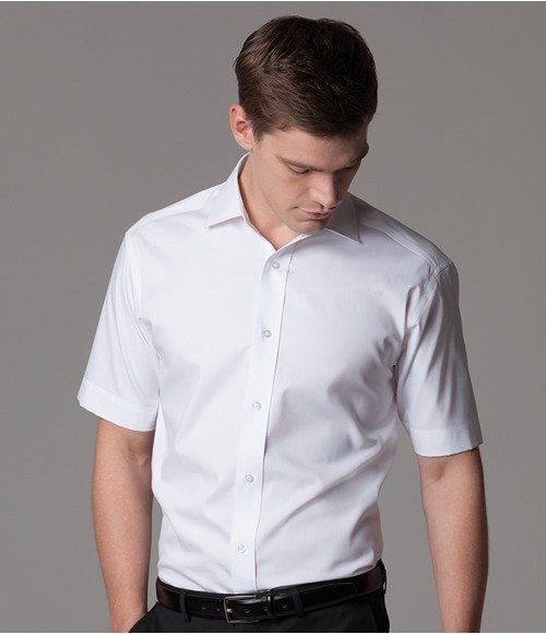 K117 Kustom Kit Premium Short Sleeve Classic Fit Oxford Shirt