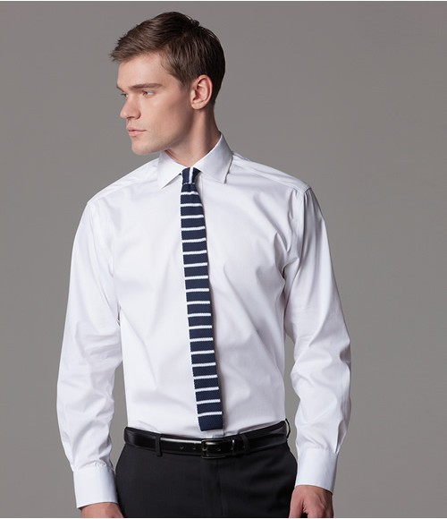 K118 Kustom Kit Premium Long Sleeve Classic Fit Oxford Shirt