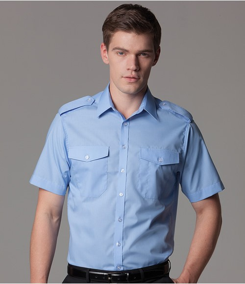 K133 Kustom Kit Short Sleeve Tailored Pilot Shirt