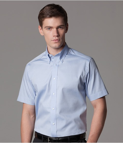K187 Kustom Kit Premium Short Sleeve Tailored Oxford Shirt