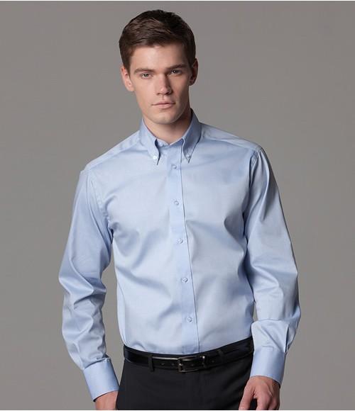 Kustom Kit Long Sleeve Tailored Oxford Shirt