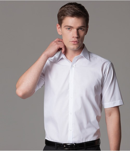 K191 Kustom Kit Short Sleeve Slim Fit Business Shirt