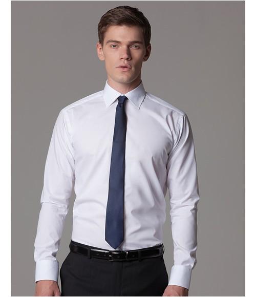 Kustom Kit Long Sleeve Slim Fit Business Shirt