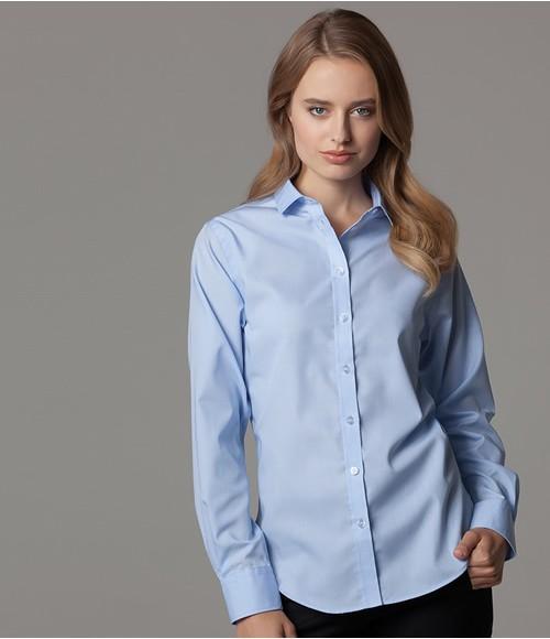 Kustom Kit Ladies Long Sleeve Premium Corporate Shirt