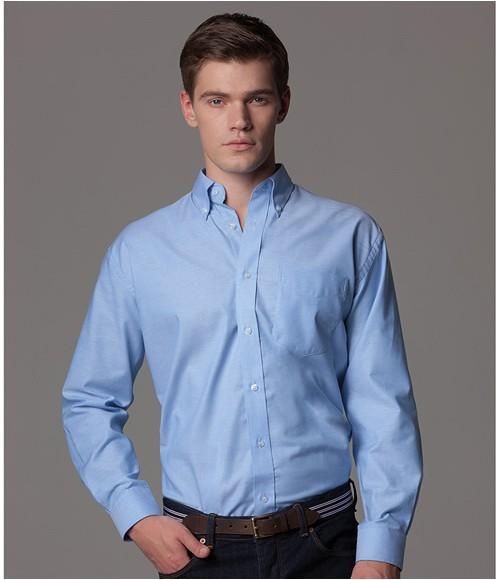 K351 Kustom Kit Long Sleeve Classic Fit Workwear Oxford Shirt