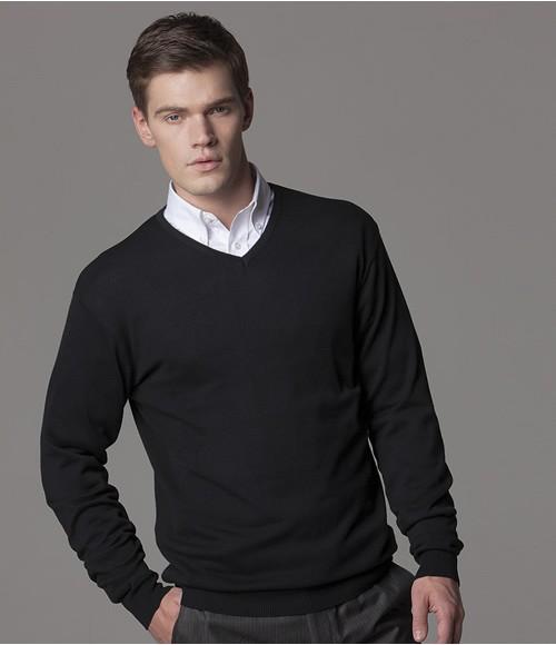 K352 Kustom Kit Arundel Cotton Acrylic V Neck Sweater