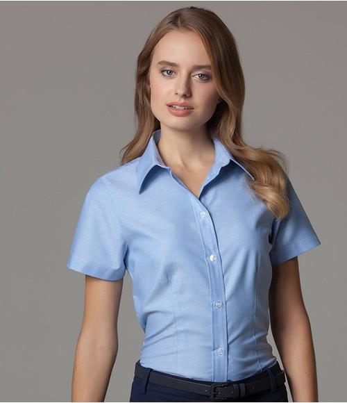 K360 Kustom Kit Ladies Short Sleeve Tailored Workwear Oxford Shirt