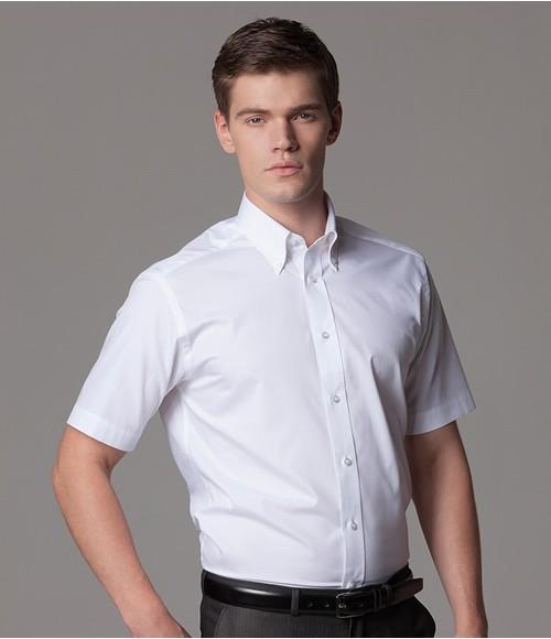 K385 Kustom Kit Short Sleeve Tailored City Business Shirt