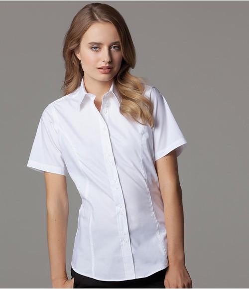 K387 Kustom Kit Ladies Short Sleeve Tailored City Business Shirt