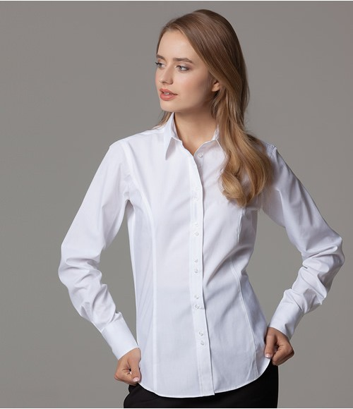 Kustom Kit Ladies Long Sleeve City Business Shirt