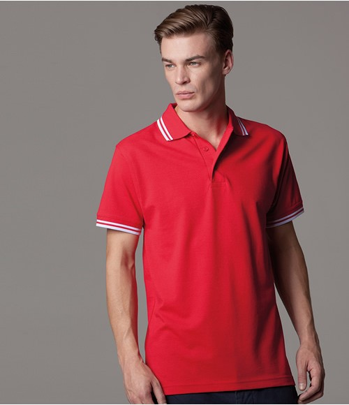 K409 Kustom Kit Contrast Tipped Poly/Cotton Pique Polo Shirt