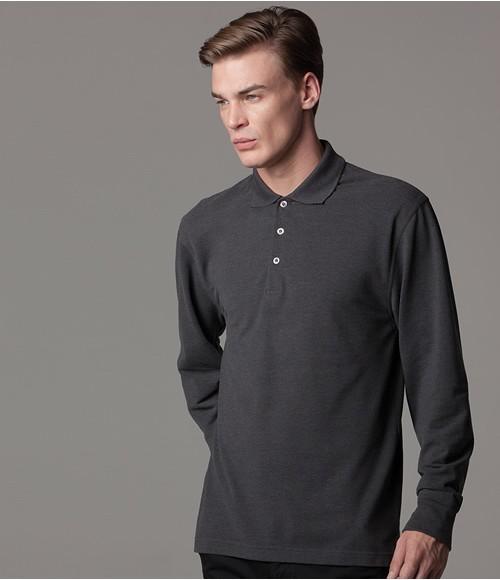 Kustom Kit Long Sleeved Poly/Cotton Pique Polo Shirt