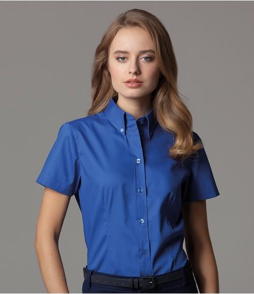 K701 Kustom Kit Ladies Premium Short Sleeve Tailored Oxford Shirt