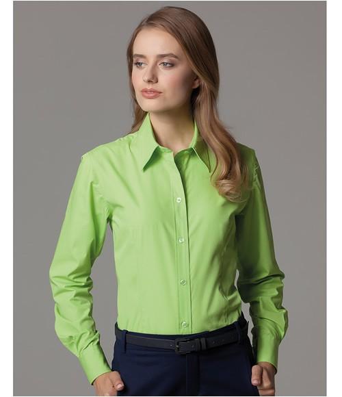K729 Kustom Kit Ladies Long Sleeve Classic Fit Workforce Shirt