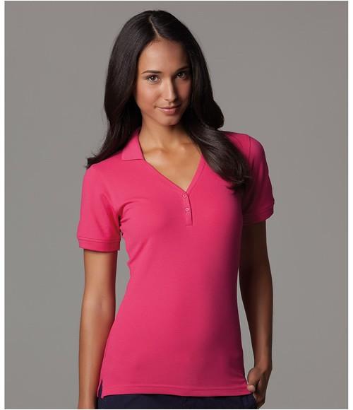 Kustom Kit Sophia Comfortec  V Neck Polo Shirt