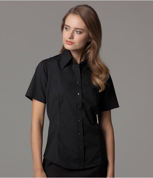Kustom Kit Ladies Short Sleeve Business Shirt