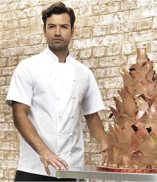Premier Unisex Ambassador Short Sleeve Chef's Jacket
