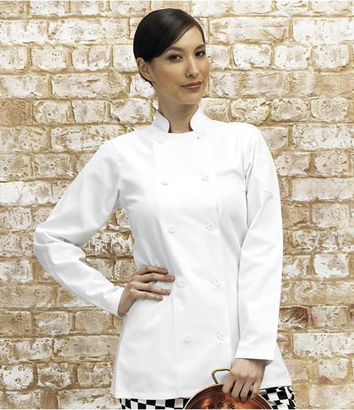 Premier Ladies Long Sleeve Chefs Jacket