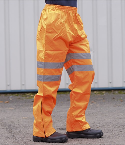 Portwest Hi-Vis Traffic Trousers GO/RT